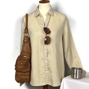 Vintage Banana Republic Long Sleeve Linen Blouse M